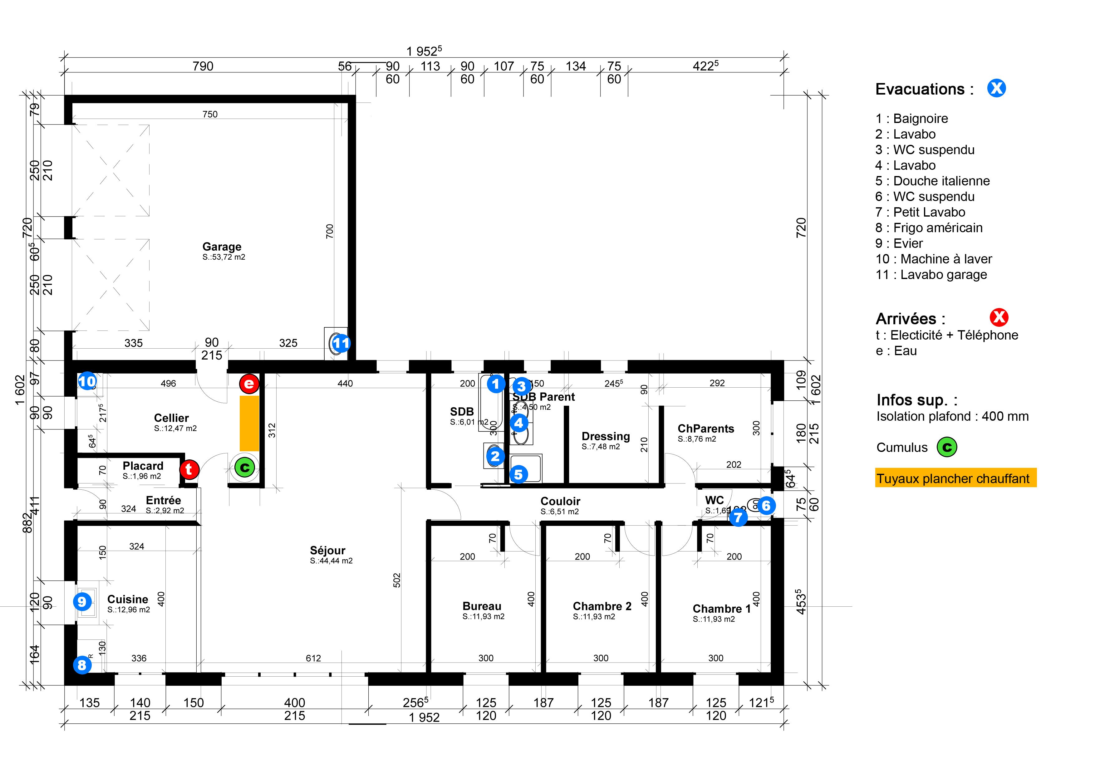 plans plomberie - Devis Maison Neuve En Ligne